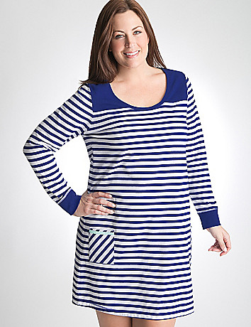 Plus Size Long Sleeve Sleep Shirt by Cacique