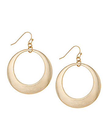 Lane Collection matte goldtone hoop earrings
