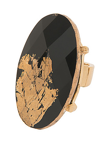 Black & Goldtone Statement Ring by Lane Bryant