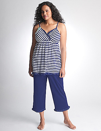 Plus Size Cami & Crop PJ Set by Cacique