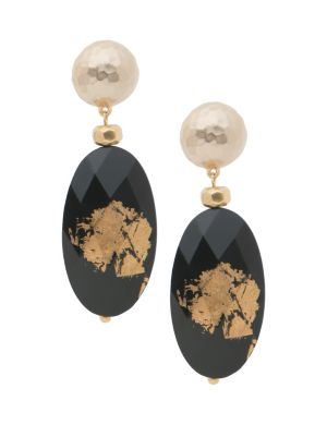 Lane Collection golden inkwell earrings