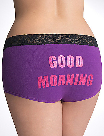 Good Morning cotton boyshort panty