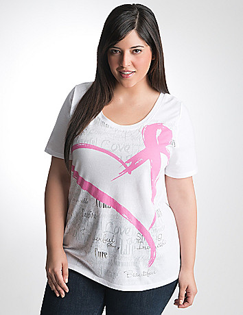 Full Figure Inspire Pink Ribbon Tee