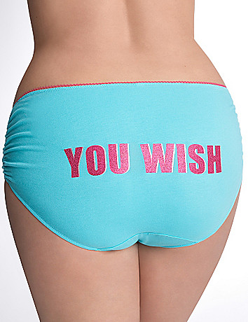 You Wish ruched cotton hipster panty