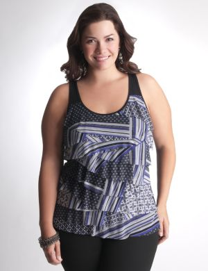 Mixed print tiered tank