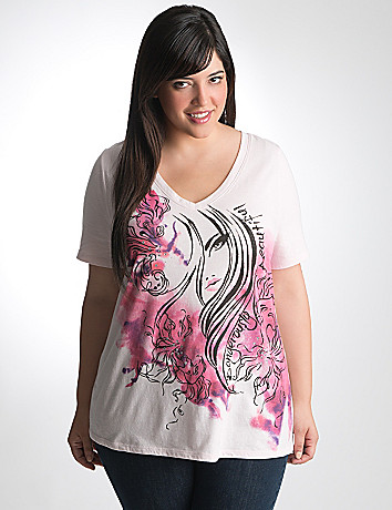Plus Size Cancer Support Pink Ribbon Tee