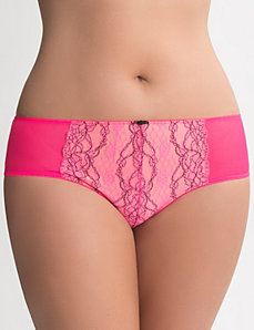 Embroidered lace cheeky panty