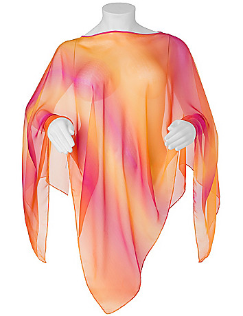 Airbrush poncho by Lane Bryant