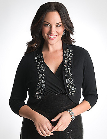 Full Figured Jeweled Shrug by Lane Bryant