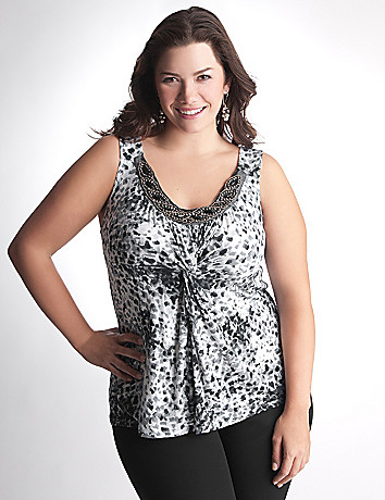 Full Figure Embellished Tank Top by Lane Bryant
