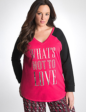 Plus Size Embellished Sleep Tee by Cacique