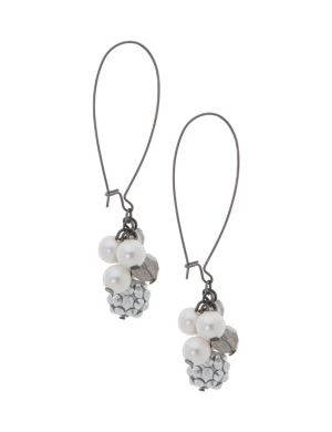Faux pearl A-wire earrings by Lane Bryant