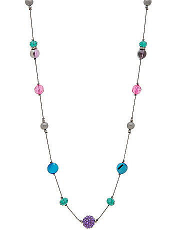 Multicolor fireball long necklace by Lane Bryant