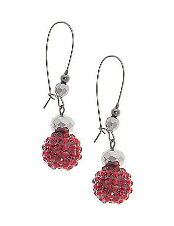 Faux garnet earrings by Lane Bryant