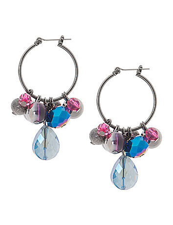 Cluster hoop earrings by Lane Bryant