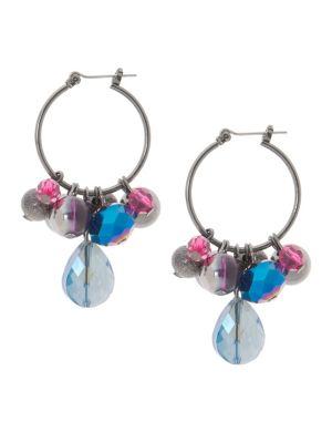 Cluster hoop earrings by Lane Bryant