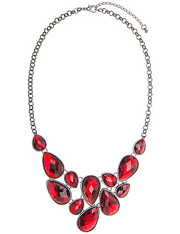 Faux garnet bib necklace by Lane Bryant