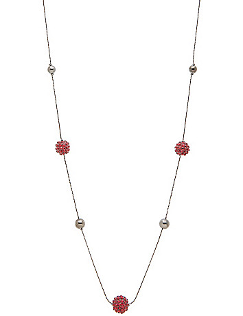 "60"" faux garnet fireball necklace by Lane Bryant"