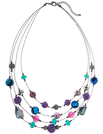 Multicolor nested illusion necklace by Lane Bryant