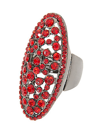 Faux garnet ring by Lane Bryant