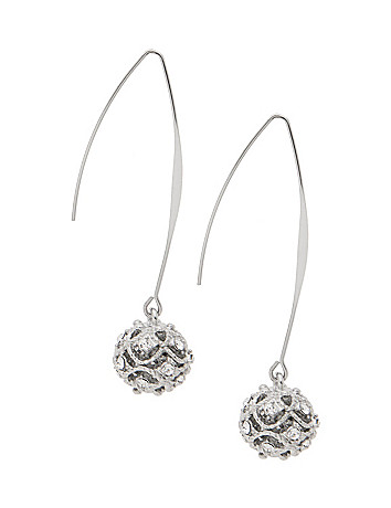 Rhinestone and filigree earrings by Lane Bryant