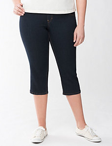 Full Figure Dark Jegging Capri by Lane Bryant