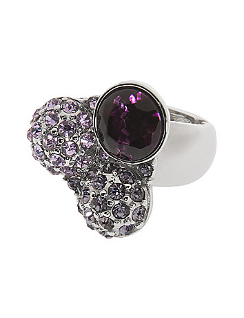 Rhinestone trio ring by Lane Bryant