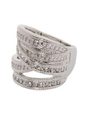 Criss cross rhinestone ring by Lane Bryant