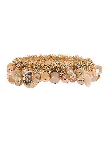 Rose gold bead shaker bracelet by Lane Bryant