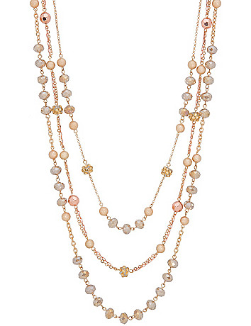 3 row rose gold necklace by Lane Bryant