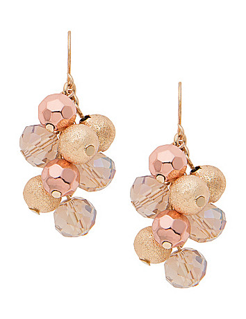 Goldtone cluster earrings by Lane Bryant