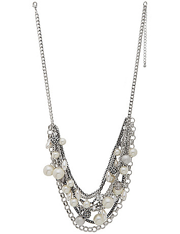 Multi chain pearl necklace by Lane Bryant