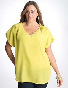 Plus Size Tee Shaped Blouse by Lane Bryant