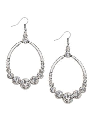Rhinestone teardrop earrings by Lane Bryant