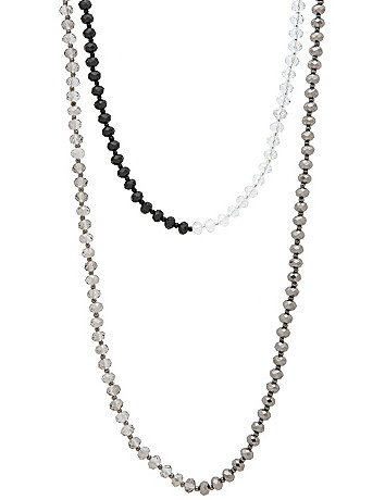 Long faceted bead necklace by Lane Bryant