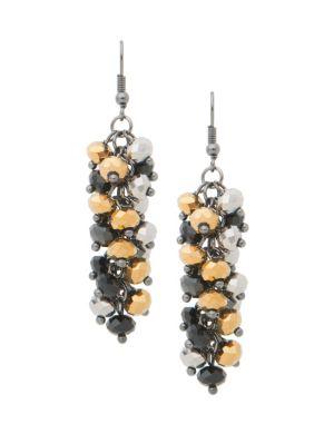Multi bead cluster earrings by Lane Bryant