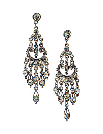 Stone studded chandelier earrings by Lane Bryant