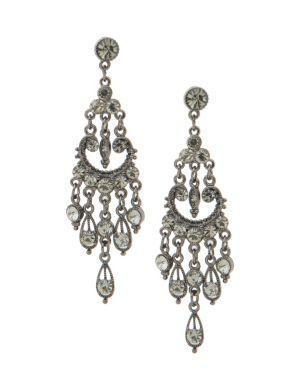 Stone studded chandelier earrings by Lane Bryant