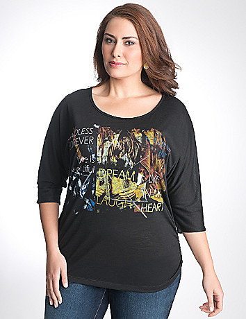 Full Figure Embellished Graphic Tunic by Lane Bryant