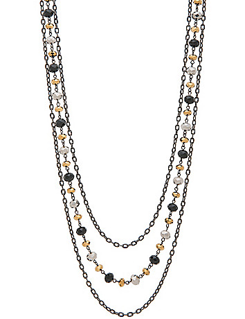 Tiered chain and bead necklace by Lane Bryant