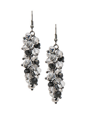 Black & white cluster earrings by Lane Bryant