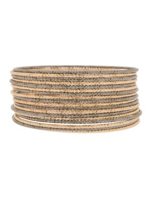 Textured two tone bangle set by Lane Bryant