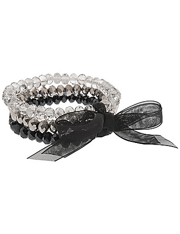 3 row beaded stretch bracelet by Lane Bryant