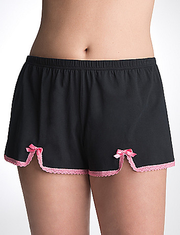 Full Figure Lace Trim Sleep Short by Cacique