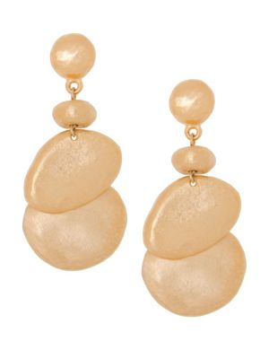 Hammered button drop earrings by Lane Bryant