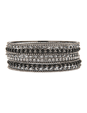 Multi media bangle set by Lane Bryant