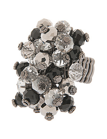 Tri-tone beaded shaker ring by Lane Bryant