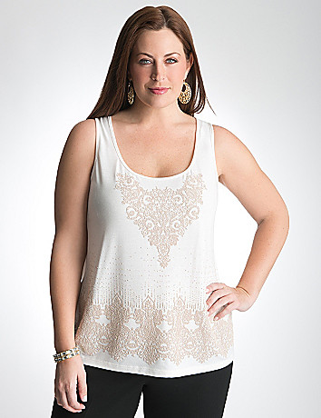 Full Figure Caviar Bead Tank by Lane Bryant