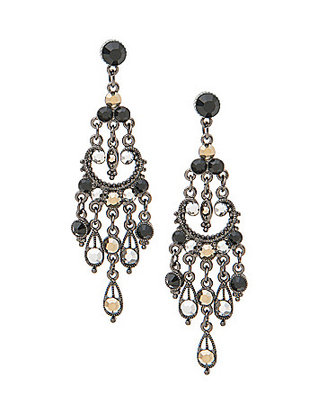 Multi stone chandelier earrings by Lane Bryant