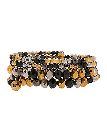 Tri-tone coil bracelet by Lane Bryant